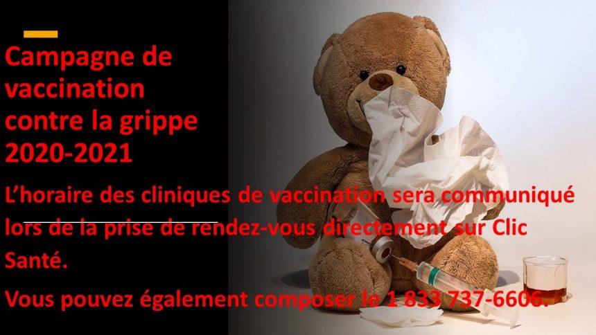 Campagne de vaccination contre la grippe 2020-2021